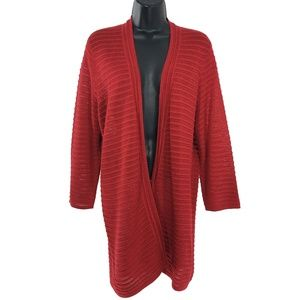 Travelers Collection By Chico's Open Cardigan